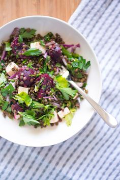 Lentil, Beetroot & Feta Salad | a tactile life    ✿♥✿´¯`*•.¸¸✿♥✿´¯`*•.¸¸✿♥✿´¯`*•.¸¸✿♥✿´¯`*•.¸¸✿♥✿  LETS GET HEALTHY TOGETHER!  Join here for Weight Loss Support, Daily Recipes,  Health & Exercise tips, Inspiration and Motivation  Invite your friends who love recipes too! --->>>  https://www.facebook.com/groups/healthychoiceswithljsgourmetkitchen/  ღϠ₡ღ✻✿~~Making a difference, One KG at a time~~✿✻ღϠ₡ღ✻ http://HealthyChoicesWithLj.sbcnewresolution.com/