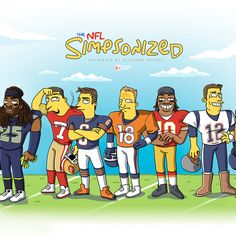 Bleacher Report presents some of the most iconic faces in the National Football League in the form of your favorite yellow characters, the Simpsons.