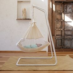 The Amby Air Baby Hammock is a baby bed for newborn babies up to 10 months old. A natural alternative to the crib / cot providing better sleep for your baby. Baby Hammock, Baby Swings, Hammock Stand, Baby Furniture, Furniture Movers, Baby Accessories, Baby Care, Future Baby, Kids And Parenting