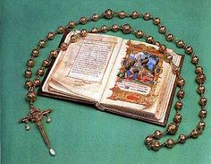 Prayer book and rosary carried by Mary Queen of Scots to her execution.