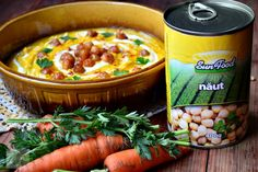 Supa crema de morcov si naut - CAIETUL CU RETETE Chili, Soup, Chile, Chilis, Soups, Chowder
