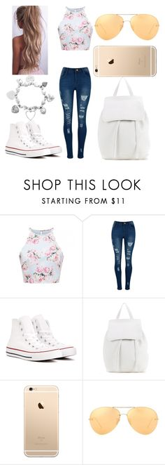 """""""Untitled #5"""" by not-a-big-fan-of-reality ❤ liked on Polyvore featuring Converse, Mansur Gavriel, Linda Farrow and ChloBo"""