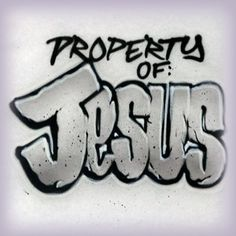 Custom Airbrushed Property of Jesus T shirt by AirbrushCustoms