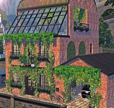 The Gardener's Den by Sooky So many of you asked me about it, I hope you can finally enjoy it! I fully tested it and it's perfectly working. You will find a CC List in the Zip Folder with all. Sims 3 Houses Ideas, Sims 4 Houses, Sims Ideas, Sims 4 House Building, Sims House Plans, Eco Architecture, Beautiful Architecture, Sims 4 Family, Sims 4 Kitchen