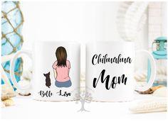 Chihuahua Mug, Chihuahua Mom Mug, Chihuahua Custom Mug, Chihuahua Gift, Custom Pet Mug, Personalized Chihuahua Mug, Gift For Chihuahua Lover by MysticCustomDesignCo on Etsy