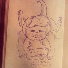 un chaton bourré