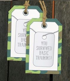 Army Dog Tag Thank You Tags