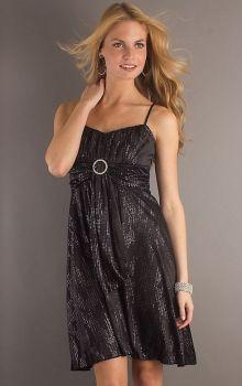 Black A-Line/Princess Spaghetti Straps Empire Knee-length Sleeveless Beading,Sashes/Ribbons Chiffon Prom Dresses Dress