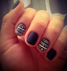 I love love love these nails! Matte nails will be my next trend! I love love love these nails! Matte nails will be my next trend! Fancy Nails, Love Nails, How To Do Nails, My Nails, Color Nails, Jamberry Nails, Nail Colors, Black And White Nail Art, Blue Nail