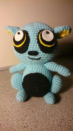 Amigurumi Crochet Blue Lemur