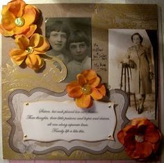 Vintage style scrapbook page