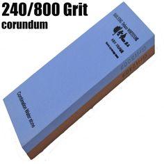 240/800 Grit corundum 7x2x1 inch Kitchen Knife Grinding combination whetstone Water stone Sanying #Affiliate