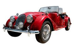 Vintage sport convertible classic car isolated Stock Photo