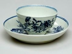 Cup and Saucer WORCESTER PORCELAIN FACTORY (BRITISH, b. 1751–PRESENT) 1751-1783