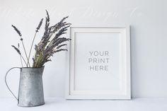 Frame mock up - PSD + Jpeg by White Hart Design Studio on Creative Market