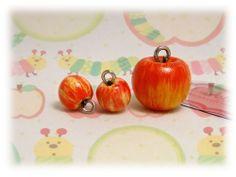 Kawaii Fashion Accessories Handmade Gara Apples Charms, Pendant and earrings.