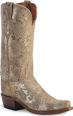 Lucchese 1883 Precious Metal Python Print Cowgirl Boots