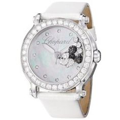 Chopard Women's 288524-3005 LWH Happy Sport Round Analog Display Swiss Quartz White Watch
