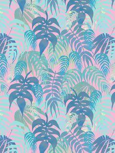 #ElementEdenArtSearch Watercolor & Digital Coloring Tropical Palms by Tanya Brown, via Behance