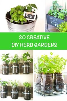 20 Creative DIY Herb Gardens #herb #garden #diy