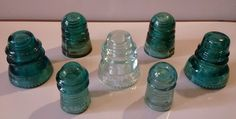 Antique Glass Insulators 1890s-1930s Hemingray and Star, some with Patent Dates