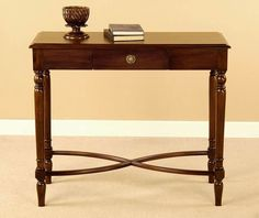 Showcase your sense of style and eye for design with an antique sofa table made of Honduran mahogany. Each Sheraton piece we reproduce is made of heirloom quality. Foyer Bench, Entryway Tables, Writing Table, Victorian Furniture, Grandfather Clock, Small Drawers, Table Legs, Kitchen Furniture, Home Kitchens