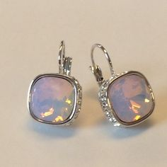Beautiful Earrings CZirconia 21k White Gold Plated High quality. Real stone. Jewelry Earrings