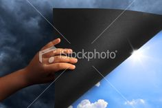 Determined  Perseverance    Revealing Blue Sky Royalty Free Stock Photo