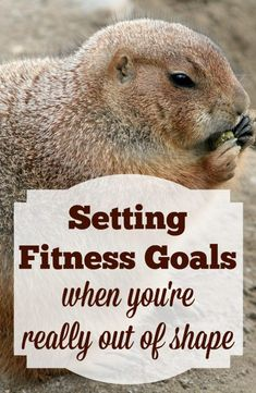 Setting a fitness goal when you're really out of shape can be a daunting task. Here are some great tips to help you get started and stick with it!