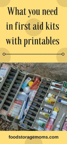 What you need in first aid kits with printables