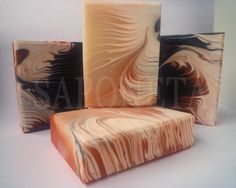 cold-process soap swirls