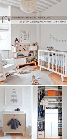 neutral baby room - in-the-corner . Love the colors but the furniture is too modern for my taste