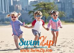 SwimZIp Zipper rash guard and swim shirt set!  Tops and Bottoms for only $29.99 and they have UV 50+ so kids stay sun protected all day long, no reapplying sunscreen!  Best kids swimwear on the market.  #kids #swim #boy #fashion #girl #beach #swimsuit #sunshirt #rashguard #pool http://www.SwimZip.com