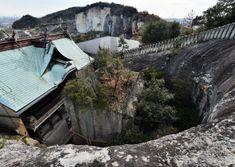 裏山に登ると、岩盤を掘り込んで造形された状況が一目瞭然(兵庫県高砂市) Hyogo