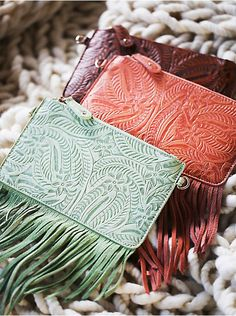 Free People Tooled Wallet, $28.00