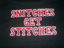 HELLS ANGELS SUPPORT T-SHIRT stitches