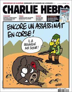 assassinat, Corse, Les Unes de Charlie Hebdo 1062 Une