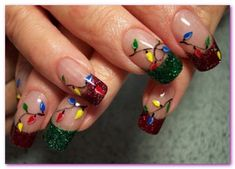christmas nail designs | New Christmas Nails Fashion Art Design Collection 2013-12 for Girls ...