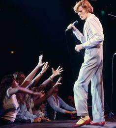 David Bowie, Universal Amphitheatre, Los Angeles 1974: Diamond Dog Leper Messiah, by Terry O'Neill