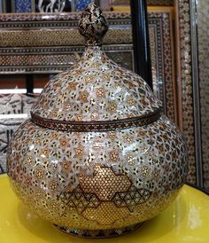 Khatam Marquetry Copper Candy Bowl
