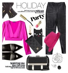 """Holiday Style: Leather Pants"" by malussieversii ❤ liked on Polyvore featuring L'Oréal Paris, Bebe, Chanel, Yves Saint Laurent, Alexander McQueen, Napoleon Perdis, Tory Burch and Marc by Marc Jacobs"