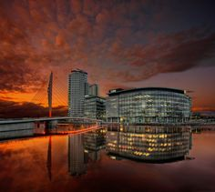 Reflections by Asim Shahzad on Salford Uni, Places Around The World, Around The Worlds, Manchester Travel, Midland Hotel, British Holidays, Visit Britain, La Rive, Manchester England