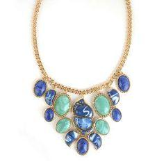 Rose Pierre 'Catalina' Chandelier Statement Necklace Blue | Find.com