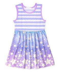 Loving this Purple Stripe & Star A-Line Dress - Toddler & Girls on #zulily! #zulilyfinds