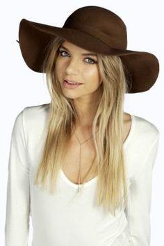 Amy Wool Floppy Hat at boohoo.com