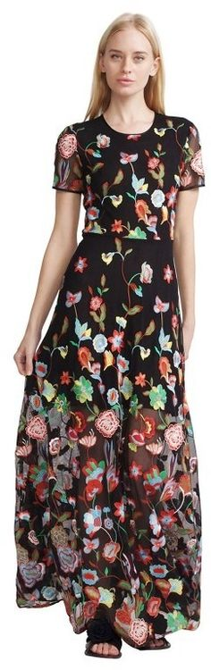Embroidered Tulle Lace Maxi Dress by Cynthia Rowley on ShopStyle.