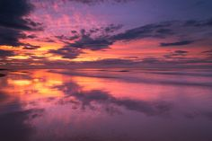 Sunset Reflections at Banburgh Dunes