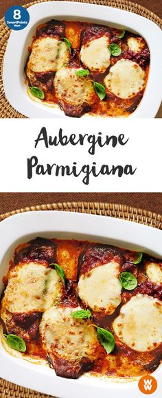 Aubergine Parmigiana Weight Watchers Goes quickly and is also tasty Veggie Recipes, Vegetarian Recipes, Cooking Recipes, Healthy Recipes, Fast Recipes, Weight Watchers Vegetarian, Weight Watchers Meals, Good Food, Yummy Food
