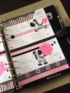 Pink, black, and zebra planner This is soooo cute! Love it
