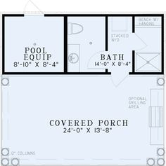 Pool House Design Plans plan 006p 0013 Pool House